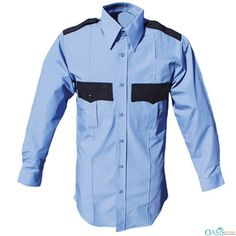 This stylish and sophisticated black and blue collared security shirt exudes a sophisticated and professional look. Made of best quality fabric, the shirt colour does not fade when hand-washed or dry cleaned. Its perfect fit accentuates the body posture making security guards look authoritative as they should.