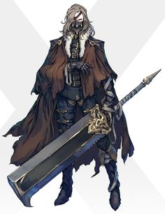 Game Character Design, Character Creation, Fantasy Character Design, Character Design Inspiration, Character Concept, Character Art, Dnd Characters, Fantasy Characters, Great Sword