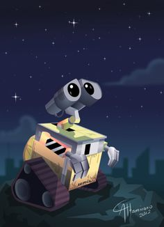sweet Wall-E! He is such a cute little robot