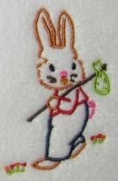 Peter Bunny Rabbit Embroidery Design.