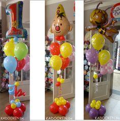 Ballonshop, ballonnenwinkel dendermonde, aankleding, decoratie, heliumballons, ballondecoratie, ballonnen, Bumba feestje, Maya de bij, 1e verjaardag www.kadooken.be