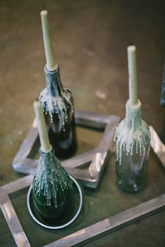 These are so awesome! I want to do these but with different color candles and jars! // Jackie