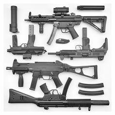 Brügger & Thomet BT-96, Brügger & Thomet TP9A1, Norinco Model 320, Heckler & Koch USC, MKE T-94SD