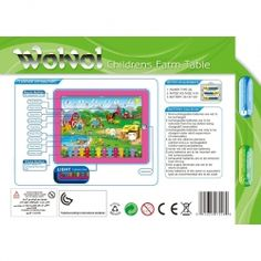 WolVol Childrens Farm Tablet, Touch-Screen Lights and Sound (9in*7in) - Great Gift Idea for Small Kids Price: $14.94