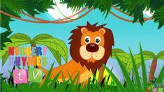 ANIMALS IN THE JUNGLE | Nursery Rhymes TV. Toddler | Kindergarten | Pres...