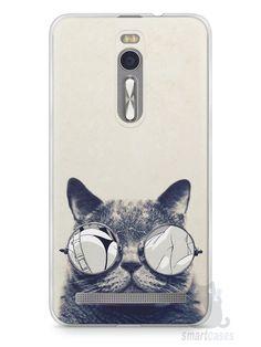 Capa Zenfone 2 Gato Com Óculos - SmartCases - Acessórios para celulares e tablets :)