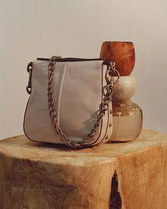 • Chain gang // The Hutton Hobo Mini in Stone • #AjeTheLabel #AjeAccessories