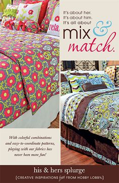 With colorful combinations and easy-to-coordinate patterns, it's never been easier to style your room with our fabric.
