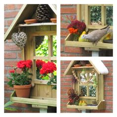 H E L E N A * H A A K T: Voederhuisje voor de vogels knutselen