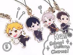 Haikyuu School Uniform Charms by meteorpilot on Etsy