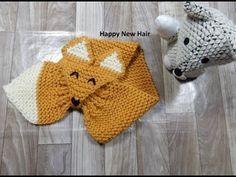 Tricotin – Echarpe renard I Loom Knitting / DIY français – Giant Knitting Blanket Crochet Bobble, Bonnet Crochet, Crochet Cat Pattern, Crochet Baby Hats, Quick Crochet, Loom Blanket, Crochet Blanket Edging, Giant Knitting, Baby Knitting