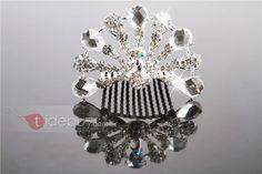 ゴージャスなラインストーンの結婚式の王冠