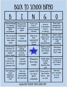 Anyone have a bingo? Find more teacher humor and observations that might make…