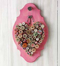 Repurpose Thread Spools into a Heart Wall Hanging | Crafts| Country Woman Magazine | Love the Country