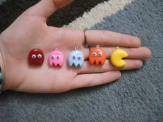 deviantART: More Like Pacman Polymer Clay Charms by ~ResurrectedVampire69