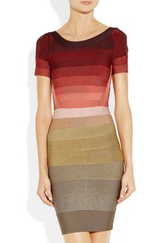 Hervé Léger Ombré bandage dress - 56% Off Now at THE OUTNET -- Usually not a Hervé Léger fan, but this is gorgeous.