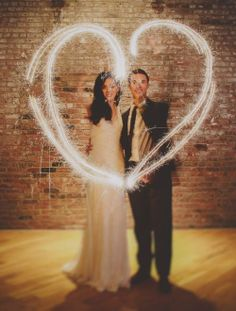 sparkling love wedding photo