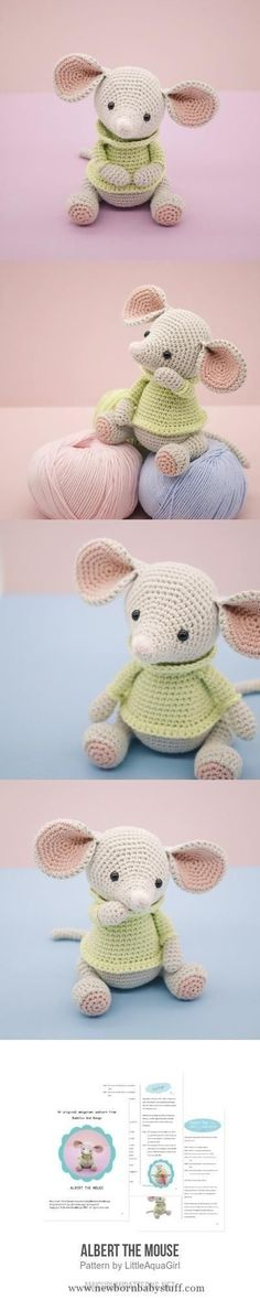 Baby Knitting Patterns Albert The Mouse Amigurumi Pattern...