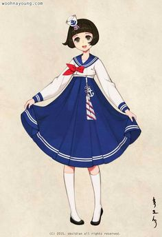 Sailor hanbok