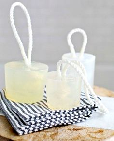 Rope Soap! Great DIY soap to add an elegant nautical touch to the bathroom! http://www.completely-coastal.com/2015/03/sea-inspired-diy-soap-ideas-bathroom.html