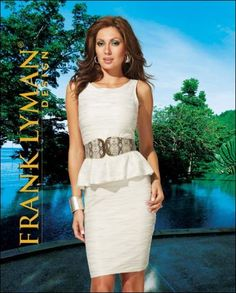 Mother Of The Bride | Mother Of The Groom | Dress | Peplum | Frank Lyman Collection