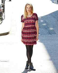 Tribal Print Jersey Tunic   Simply Be