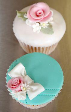 Utterly gorgeous, elegant, artfully lovely shabby chic cupcakes. #aqua #white #turquoise #cupcake #food #baking #cake #dessert #flowers #shabby #chic #wedding #pink