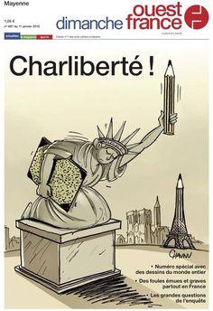 Ouest France pour Charlie Hebdo - #JeSuisCharlie