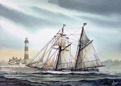 Schooner Light  \\ James Williamson . Watercolors