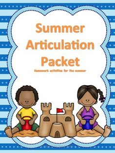 Looking for summer articulation practice? This packet includes 8 weeks of generic articulation activities, a perfect way to keep up those good speech sounds over the summer!