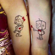 #CouplesTattoos #HisAndHers #Love #Robots #Tattoos #Ink