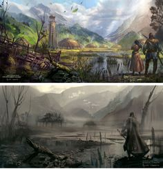Snow White and the Huntsman concept art by Annis Naeem