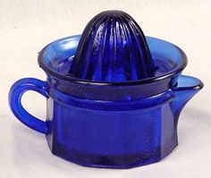 Cobalt Blue Glass Juicer