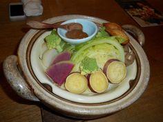 Les Légumes cuits à la vapeur du Restaurant Hiyori au Japon