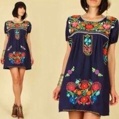 Hermoso vestido artesanal