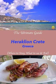 Crete visit guide - how to spend 9 perfect days in Heraklion. Where to stay in Heraklion. What to see in Heraklion. Things to do in Heraklion. Mykonos Greece, Crete Greece, Athens Greece, European Destination, European Travel, Knossos Palace, Europe Travel Tips, Travel Destinations, Budget Travel
