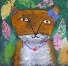 Child as Artist: Second Grade: Fox in the Dark
