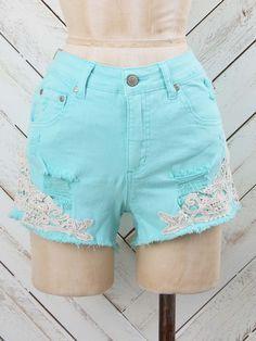 Crochet Detail Shorts | Altar'd State, Miramar Beach, FL