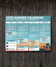 Youth fellowship church program church print templates for Youth group calendar template