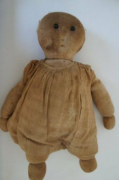 Adorable antique rag doll with shoe button eye 3 of 6