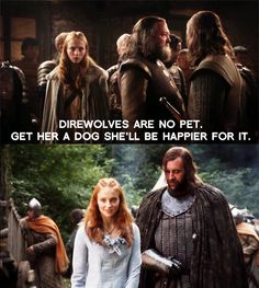 """Sansa & Sandor - Game of Thrones Fan Art (21990445) - Fanpop on we heart it / visual bookmark #11419616  - My favorite """"pairing"""" in the whole series. I love The Hound. :-)"""