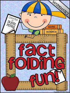 Fact Folding Fun! Math Flip-Flap Books And Elementary Lapbooks! from Irene Hines on TeachersNotebook.com -  (300 pages)  - Fact Folding Fun! Math Flip-Flap Books And Elementary Lapbooks! 300 Math Foldables In One Unit! $
