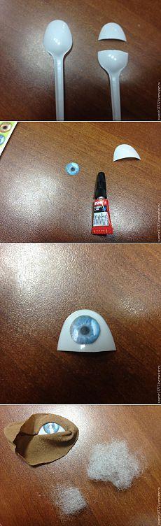 Мастер-класс: глазки для куклы из того, что есть под рукой - Ярмарка Мастеров - ручная работа, handmade