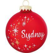 Personalized Star Swirl Ornament