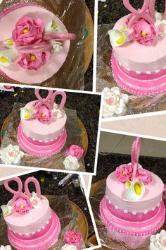 Pink 80 th cake