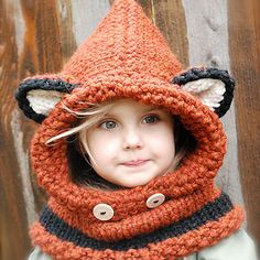 Fox Cowl is only one of the many hilarious knitted or crocheted hats to make or buy in this Bored Panda article.