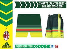Diseños, Vectores y Templates para Camisetas de Futbol: AC MILAN TRUZA 2015 2016