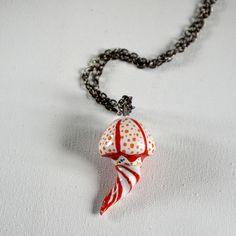 Red gold jellyfish necklace – Mrs Biscuit  This item is 100% handmade high quality ceramics, glazed. Decorated with genuine gold. #jellyfish #handmade #gold #mermaid #underwaterlife #marinelife #underwaterart #jellyfishpendant #ceramicjewelry #animallovers #ceramics #allmymoneygoestocoral #handpainted #handmadejewelry #gift #giftidea #artjewelry #seacreatures #clay #artwork #animaljewelry #clayart #scuba #coralreef #aquaculture #necklace #mrsbiscuit #art