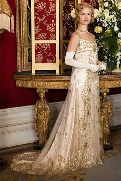 Lily James in 'Downton Abbey'