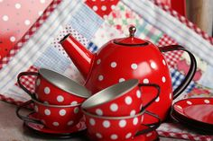 summer tea time ~ with polka dots & gingham